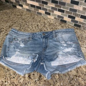 American Eagle super low shortie shorts
